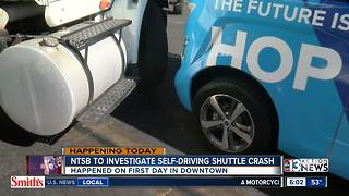 NTSB investigating driverless shuttle crash - Video