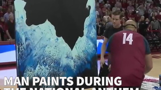 Man Paints During National Anthem, The Result Is Incredible - Video