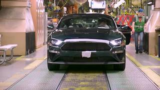 First 2019 Mustang Bullitt roles off the assembly line - Video