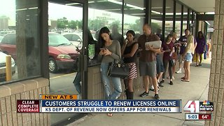 Kansans struggle to renew driver's licenses