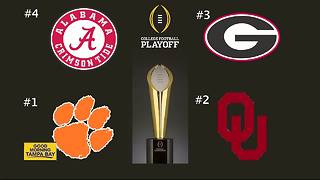 College Football Playoffs: Clemson, Alabama, Georgia, Oklahoma - Video