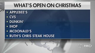 Businesses open on Christmas