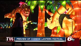 Chinese Lantern Festival brings over 1,000 lights to Indy - Video