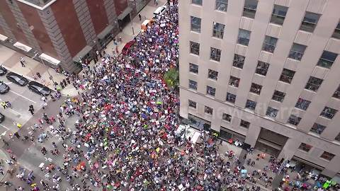 View from above captures massive March for Our Lives crowd in Houston
