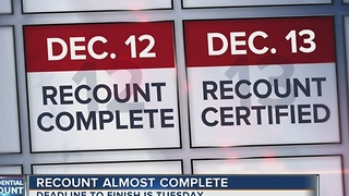 Recount almost complete - Video