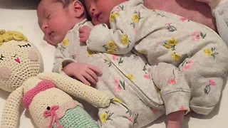 Precious Video Of 19-Day-Old Twins Cuddling Each Other Stole Our Hearts - Video