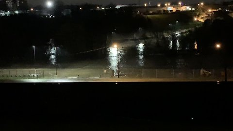 Flooded Creek Spills Onto Main Road in Nashville, Tennessee