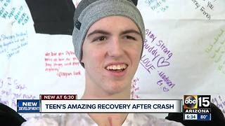 Valley teen home, recovering after serious injury crash - Video