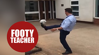 Teachers release hilarious video showing off their football skills - Video