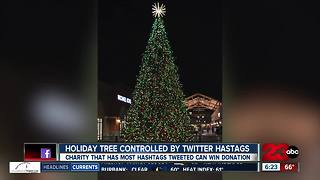 Holiday Tree Controlled by Twitter Hashtags - Video