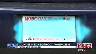 Cars vandalized with spray paint in Dundee neighborhood