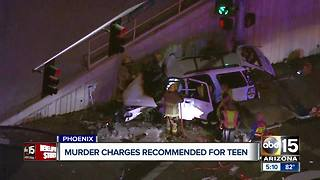 Murder charges recommended for teen in deadly Phoenix crash - Video