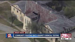 Community fights against biochemical warfare testing