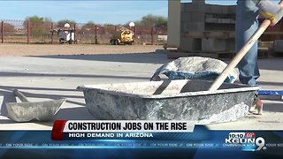 Construction jobs rising at the fastest pace in more than a decade across Arizona