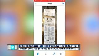People boycotting Publix after political donation - Video