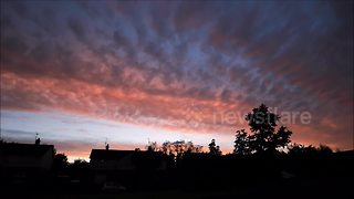 Weather watcher captures beautiful afterglow of Northern Ireland sunset - Video
