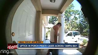 Surveillance videos may be behind increase in porch pirate cases across Tampa Bay - Video