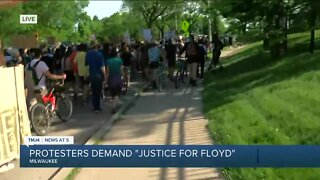 Protesters demand justice for George Floyd