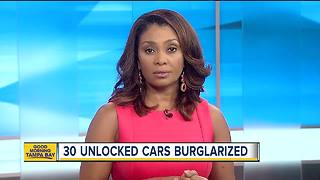 Guns stolen from unlocked vehicles in Clearwater - Video