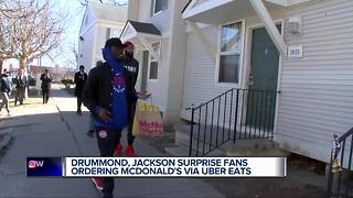 Pistons' Drummond & Jackson deliver for Uber Eats - Video