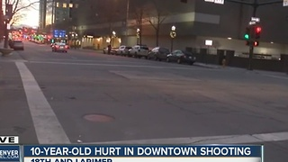 Child among 2 shot New Year's Day in downtown Denver - Video