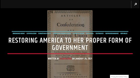 Restoring America To Her Proper Form Of Government