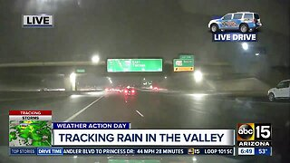 Rain falling in the Valley on Christmas Eve morning