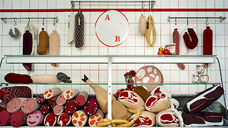 Bonkers Berlin Butchers Sell Meat Cushions - Video