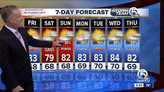 Latest Weather Forecast 5 p.m. Thursday - Video