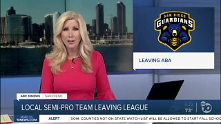 Local semi-pro team leaving league