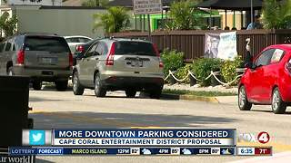 Cape Coral city leaders looking to add more parking downtown - Video