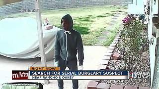 Las Vegas police release picture of suspect in burglary spree - Video