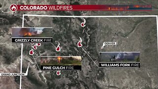 Wildfires continue to burn across Colorado