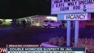 Double homicide suspect taken into custody - Video