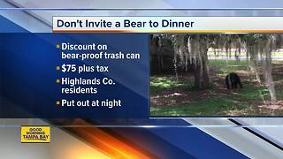 Bear-resistant trash cans available to Highlands Co. residents - Video