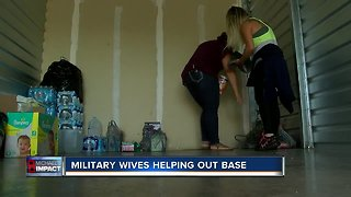 Military wives start donation drive for hurricane victims in the Panhandle