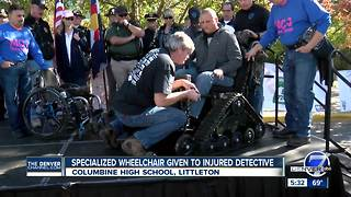Paralyzed Douglas County detective given specialized wheelchair at motorcycle Honor Run - Video