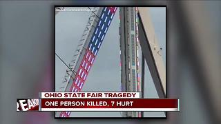 One person killed, 7 hurt in Ohio State Fair Tragedy - Video