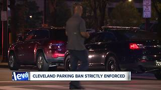 Dozens of cars ticketed and towed during Cleveland's Labor Day weekend parking ban - Video