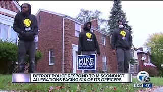 Detroit police respond to misconduct allegation facing six of its officers - Video