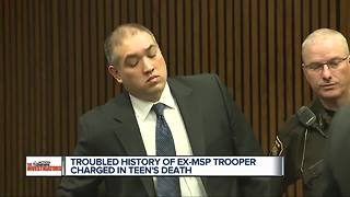 Troubled history of ex-MSP trooper charged in teen's death