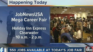550 jobs available at Tuesday's job fair in Clearwater - Video