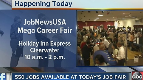 550 jobs available at Tuesday's job fair in Clearwater
