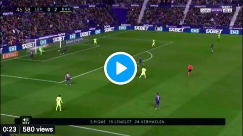 El segundo gol de Messi vs Levante