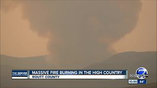 New wildfire grows quickly northwest of Steamboat Springs - Video