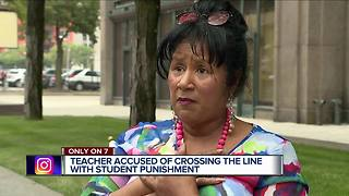 Teacher accused of crossing the link with student punishment - Video