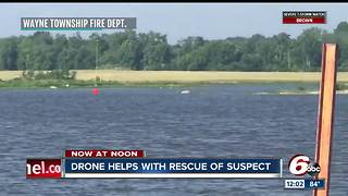 Drone helps with rescue of suspect