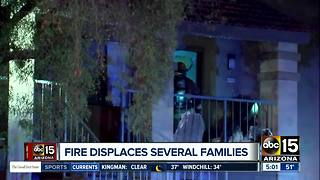 Families displaced after Phoenix apartment fire - Video