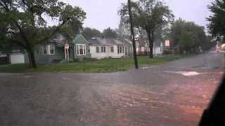 Heavy Rain and Hail Causes Flooding Across the Wichita Area - Video