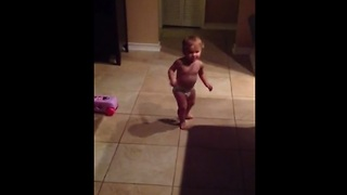 Baby dances to Bruno Mars'